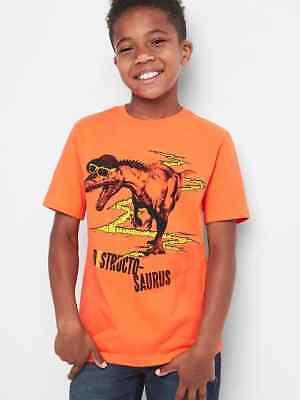 NWT Kid GAP Dinosaur Destructo-Saurus Graphic Tee T-Shirt Tees Boys M 8
