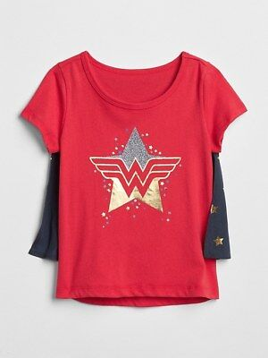 Wonder Woman T Shirt Cape (Baby Gap New Wonder Woman Cape T-Shirt 2 2T 5 5T)