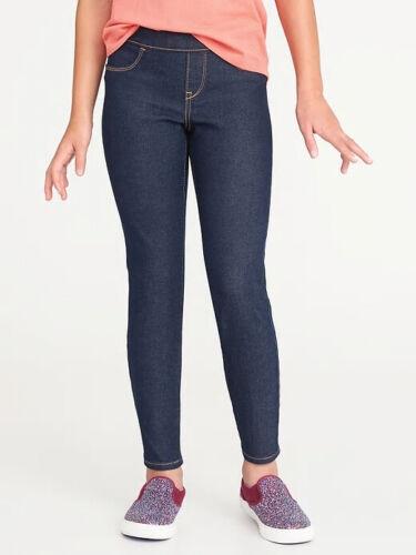 NWT Old Navy Skinny Pull-On Jeggings Jeans Pants Dark Rinse Denim Girls S M 6 8