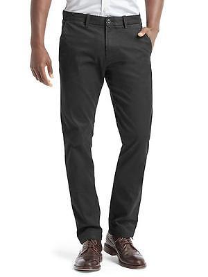 NWT GAP Men's Classic Stretch Slim Fit Khakis 32x30 New Black Cotton Blend