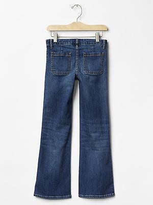 Gap Kids1969 Flare medium wash jean Premium stretch denim Size 6 Regular