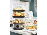 Brand new Salter 3-tier food steamer RRP: £24.95 Now £19.95