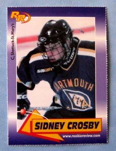 2003 SIDNEY CROSBY ROOKIE REVIEW RC ROOKIE CARD**Sidney's 1st card ever!!!!