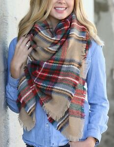 OVERSIZED PLAID BLANKET SCARF-EXCELLENT CONDITION!