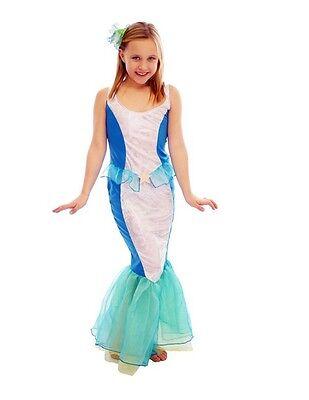 Mädchen Meerjungfrau Ariel Märchenprinzessin Kostüm Kleid Outfit Kinder