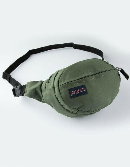 JANSPORT Fanny Pack 2 Pockets Waist bag Green Travel pouch s