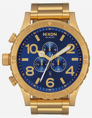 CLEARANCE EVENT....Nixon 51-30 Chrono All Gold Blue Sunray A0832735