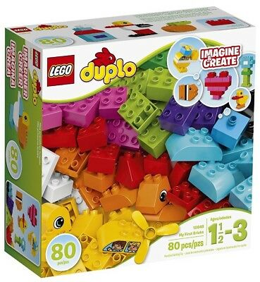 🚛Fast Shipping! {LEGO DUPLO} My First Bricks Building Kit 80pc 10848 Multicolor
