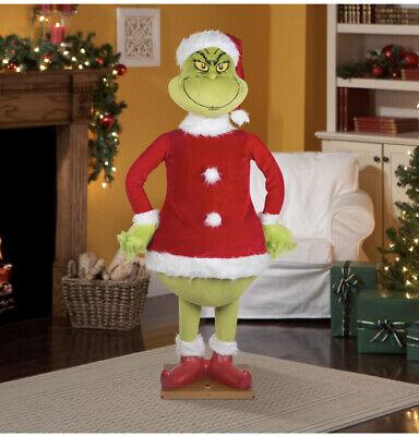 Gemmy 5.74Ft Animated Life size GRINCH Christmas Singing/Talking See Desription