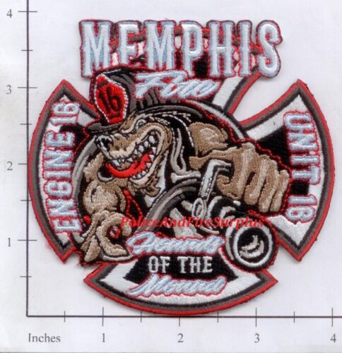 Tennessee - Memphis Engine 16 Unit 16 TN Fire Dept Patch - Hounds of the Mounds