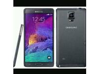 Black Samsung Galaxy Note 4 32gb