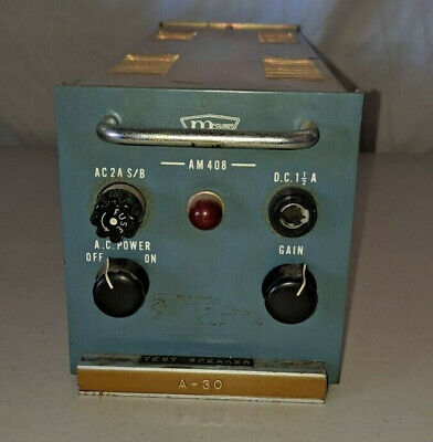 Vintage Mccurdy Amplifier Am 408 Audio Module A-30  Mri 3004 4001 2002