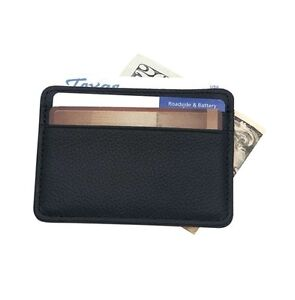 Mens Genuine Leather Slim Money Clip Credit Card ID Holder Wallet for Men New