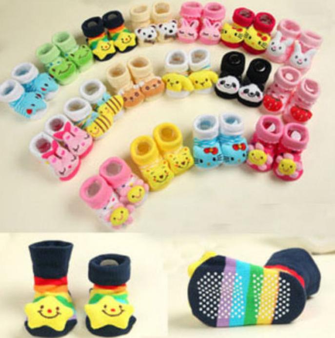 Newborn Slipper Shoes Boots Anti-slip Socks Cartoon for Baby Girl Boy 0-12Months 1