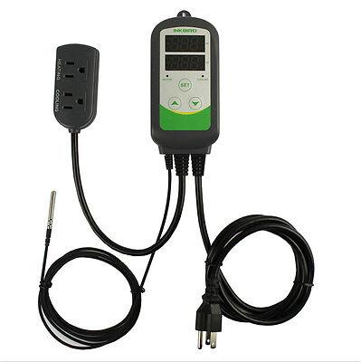 110v Incubator Freezing Aquarium Digital Temperature Control Thermostat Sensor