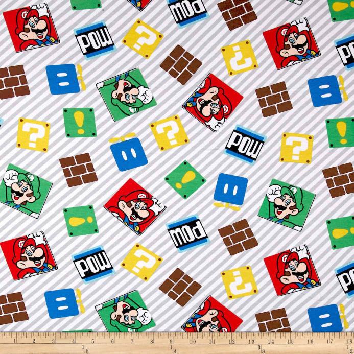 "Nintendo Super Mario Super Mario Game Time Knit 58"" by the y"