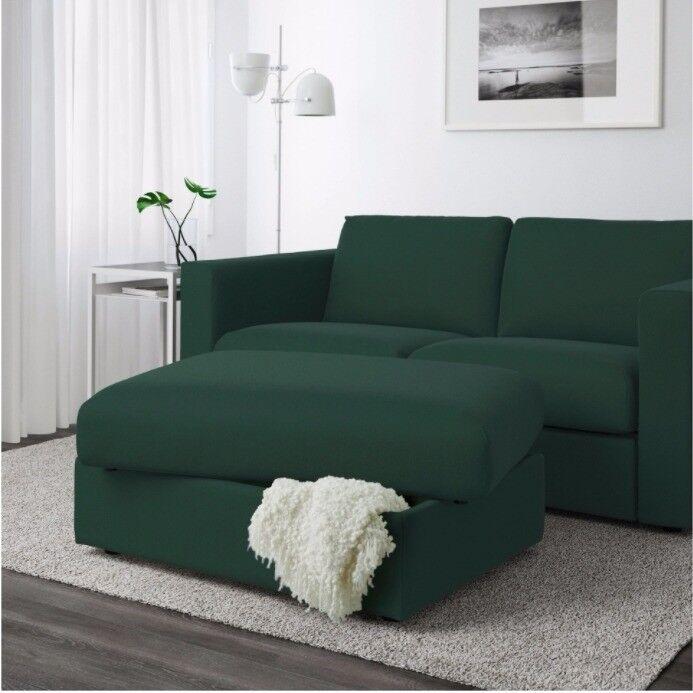 IKEA VIMLE Footstool with storage