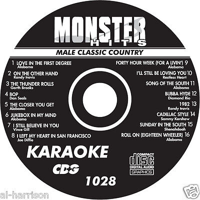 KARAOKE MONSTER HITS CD+G MALE CLASSIC COUNTRY  #1028