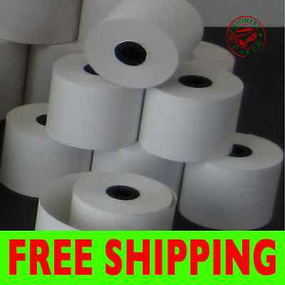 Verifone Vx520 2-14 X 50 Thermal Receipt Paper - 100 Rolls Free Shipping
