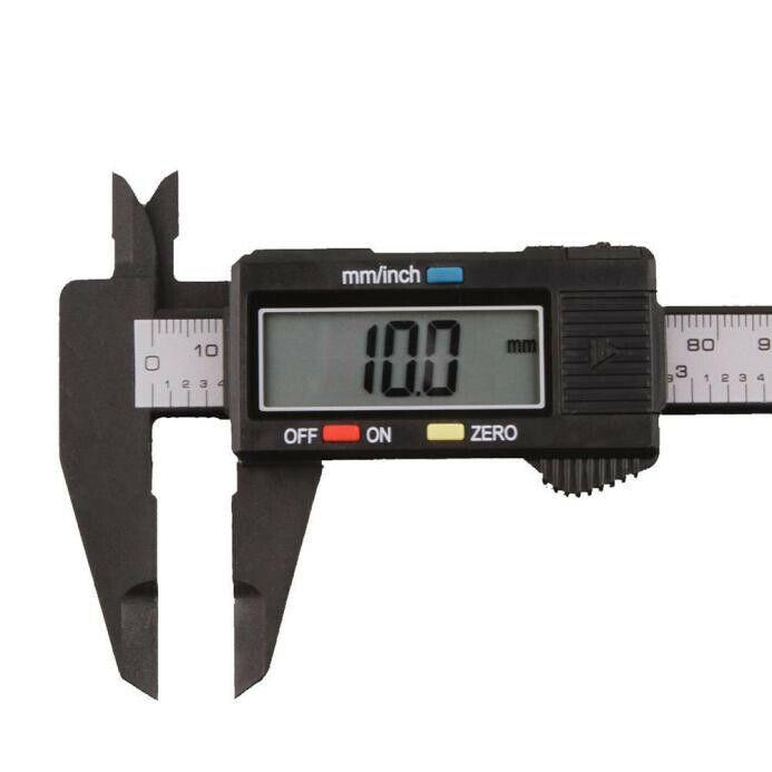 "150mm/6"" LCD Digital Electronic Carbon Fiber Vernier Caliper"