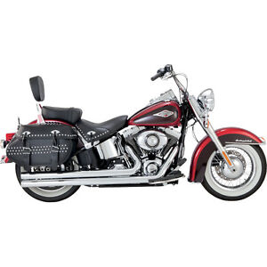 VANCE & HINES BIG SHOTS LONG EXHAUST HARLEY SOFTAIL HERITAGE DELUXE FATBOY 12-17