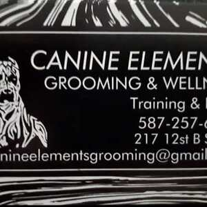 CANINE ELEMENTS GROOMING. GRAND OPENING SEPT. 29 12-6.