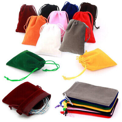 Small Gift Bag (10X Small Gift Bag Velvet Cloth Drawstring Bag Jewelry Ring Pouch Wedding)