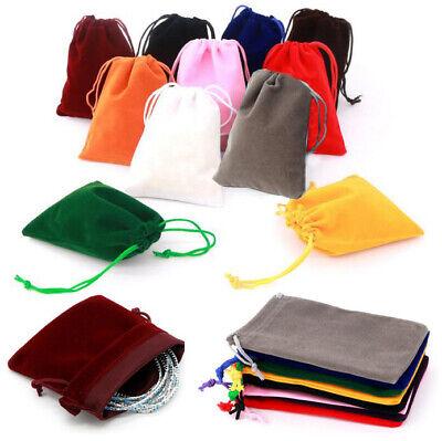 Small Drawstring Pouch (10X Small Gift Bag Velvet Cloth Drawstring Bag Jewelry Ring Pouch Wedding)