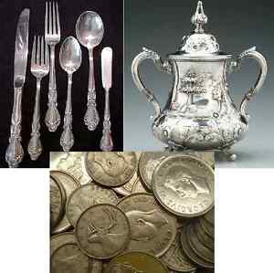Buying Silver, All kinds: Coins, Sterling, Bars, Flatware, Jewel