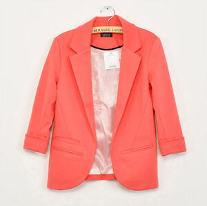 Womens 3/4 Sleeve Candy Color Slim Casual Suit Blazer Jacket 4 Colors 4 Size Kyn