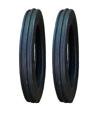 2 New Ford 8n 9n 4.00-19 4-19 Front Tractor Tires 400 19 4 19 Free Shipping
