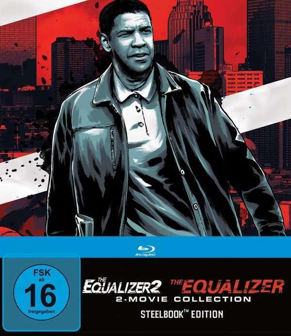THE EQUALIZER 1 + 2 Steelbook Edition 2 Blu Ray NEU & OVP Denzel Washington