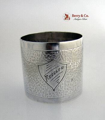 Hammered Napkin Ring Sterling Silver South American Rodolfo