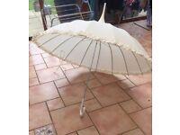 Vintage wedding umbrella