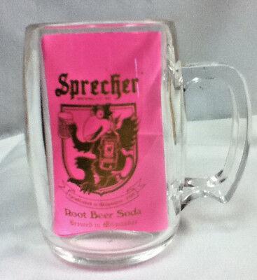Sprecher Root Beer soda plastic mug Milwaukee Wisconsin drinking glasses 1 KF5 Sprecher Root Beer Soda
