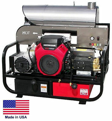 Pressure Washer Hot Water - Skid Mounted - 8 Gpm 3000 Psi - 22 Hp Honda 115v