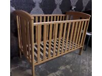 NEW Boxed Beech East Coast Katie Quality Cot - Delivery