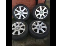 VW Alloy wheels 16 inch brand new tyres