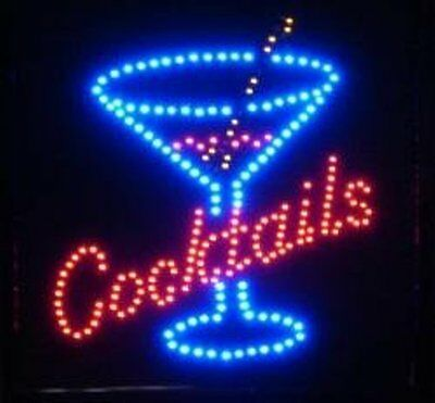 Led Neon Animated Motion Cocktails Business Sign L83