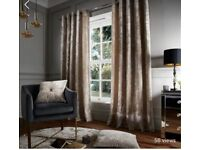 Crushed velvet curtains 90-90""