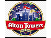 Alton towers tickets x2 19th June
