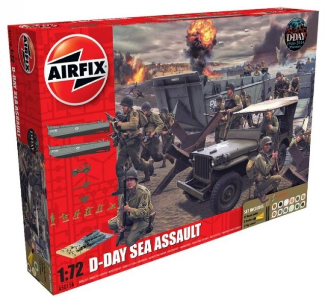 AIRFIX A50156 D-Day The Sea Assault Gift Set 1:72 Scale