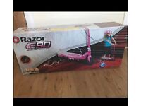 Pink razor electric scooter in box new