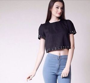Studded Crop Top Arncliffe Rockdale Area Preview