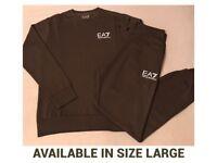 EA7 Khaki Green Full Jogging Tracksuit Brand New