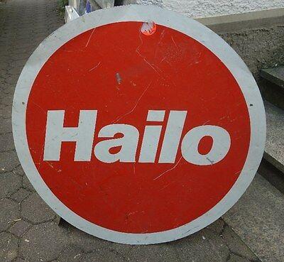 altes große Blechschild Hailo