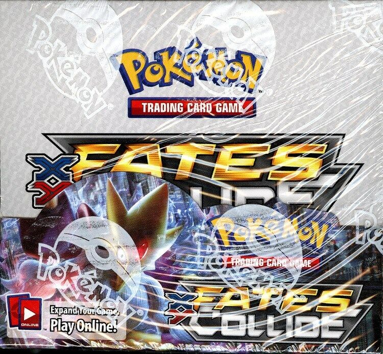 POKEMON XY FATES COLLIDE BOOSTER BOX BLOWOUT CARDS