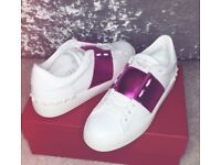 Genuine Valentino Pink metallic Trainers