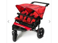 Super lightweight and robust, foldable double buggy. Only used once, brand new, has many features