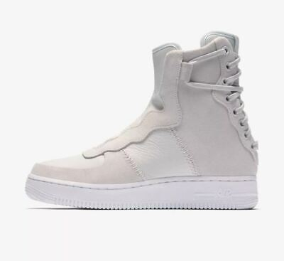 2019 WOMENS NIKE AIR FORCE1 REBEL XX SHOES $160 US 9 White USED ONCE!